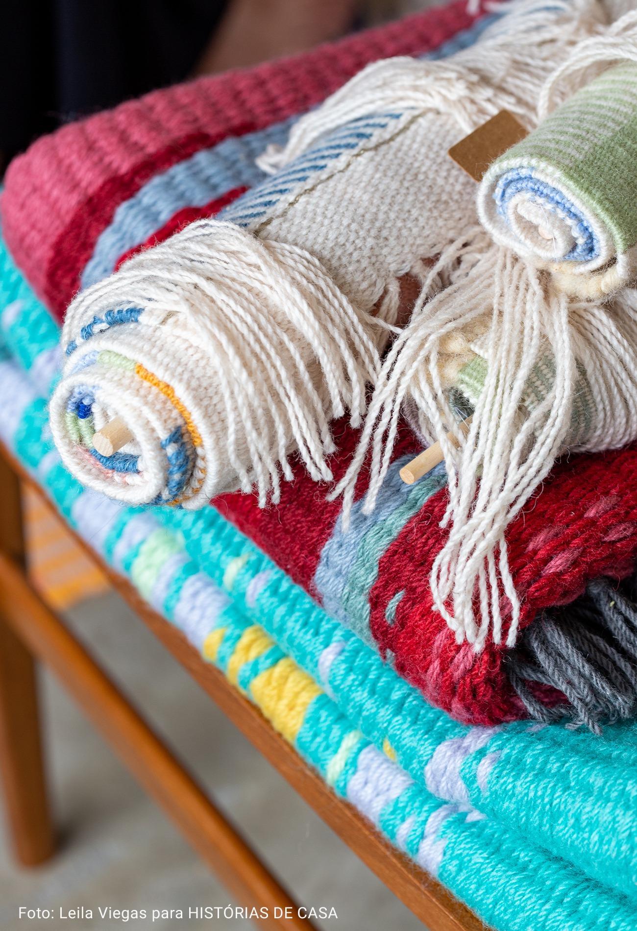 tapeçaria com franjas