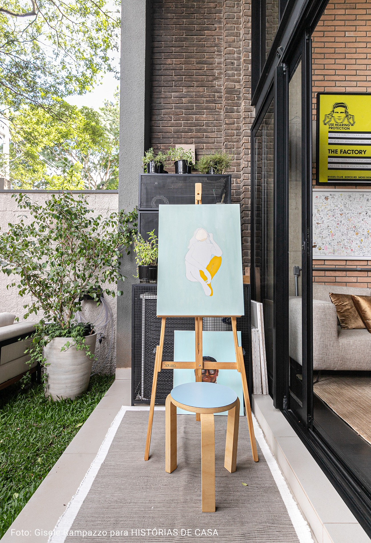 varanda com espaço de pintura