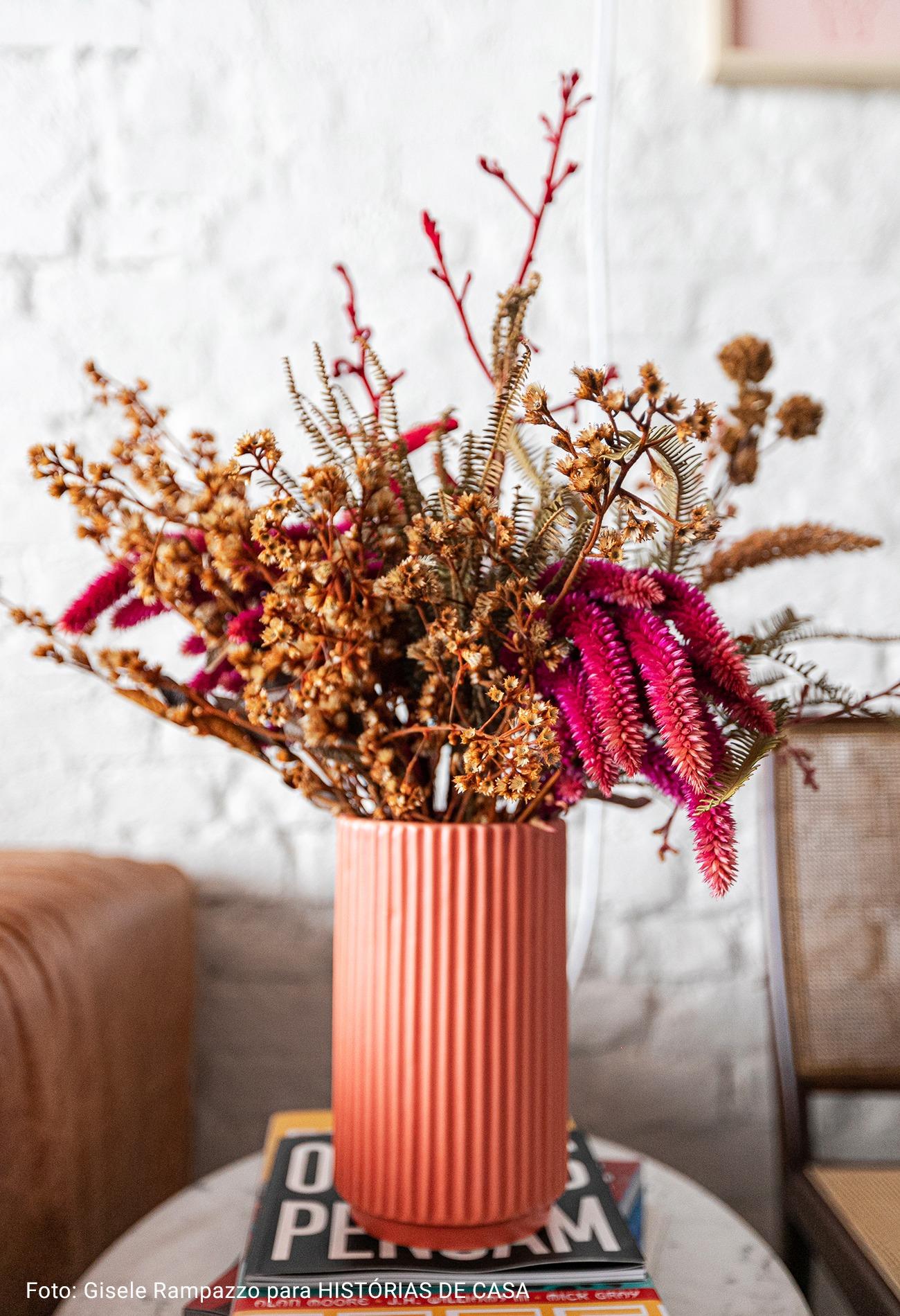 close de vaso de flor