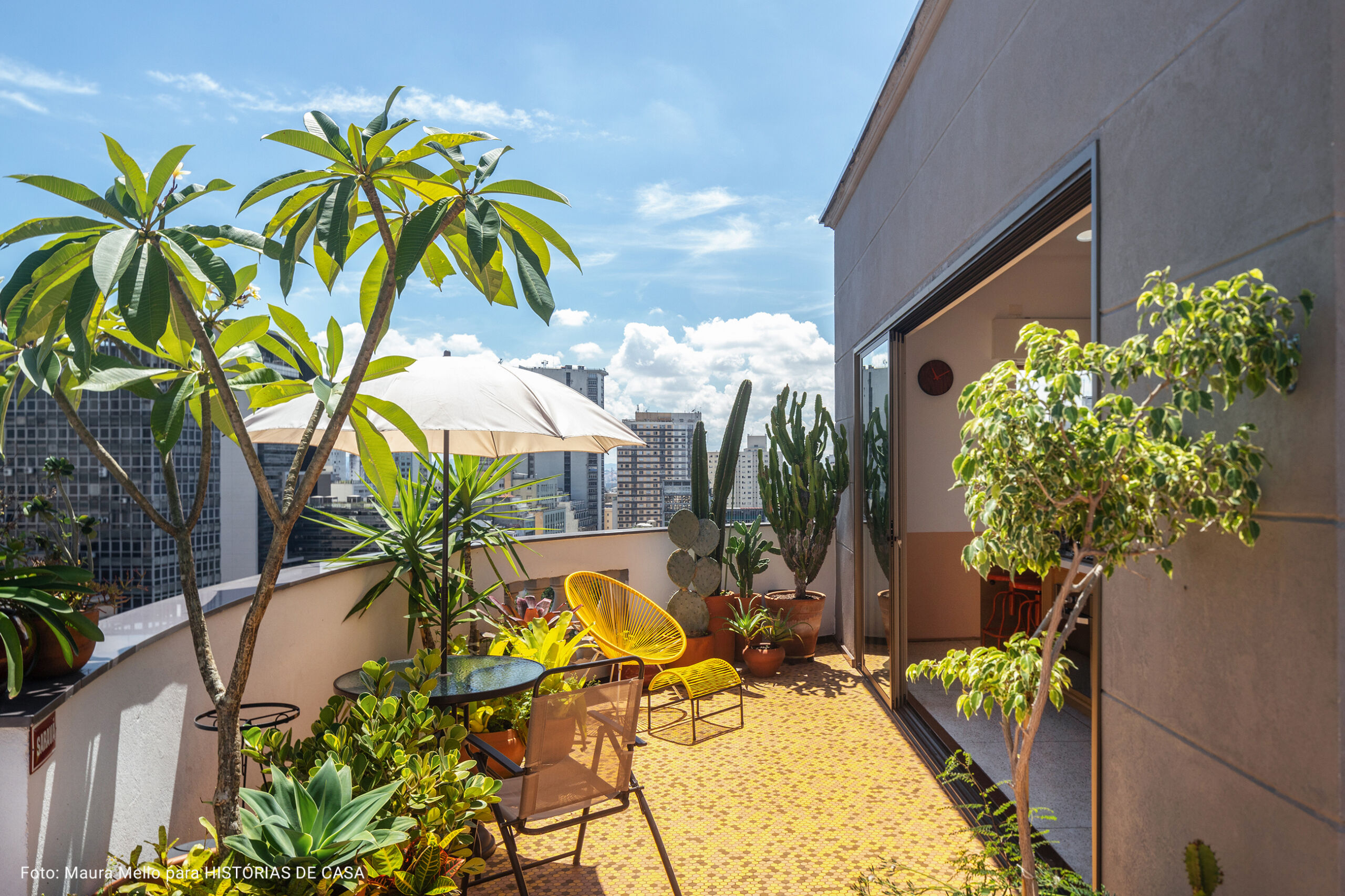 varanda de cobertura com plantas