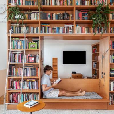 Marcenaria apartamento estante