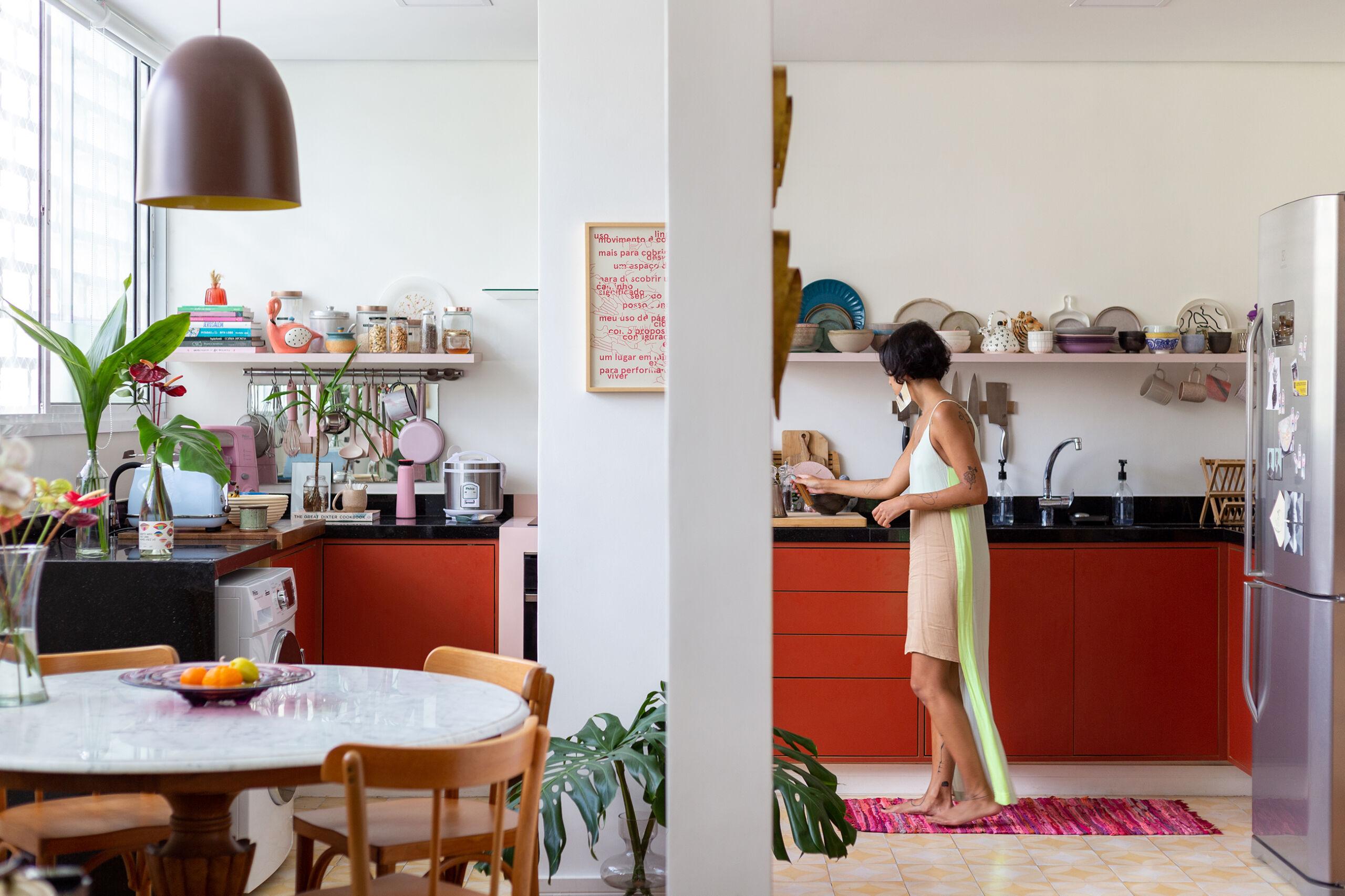 cozinha integrada com cozinha
