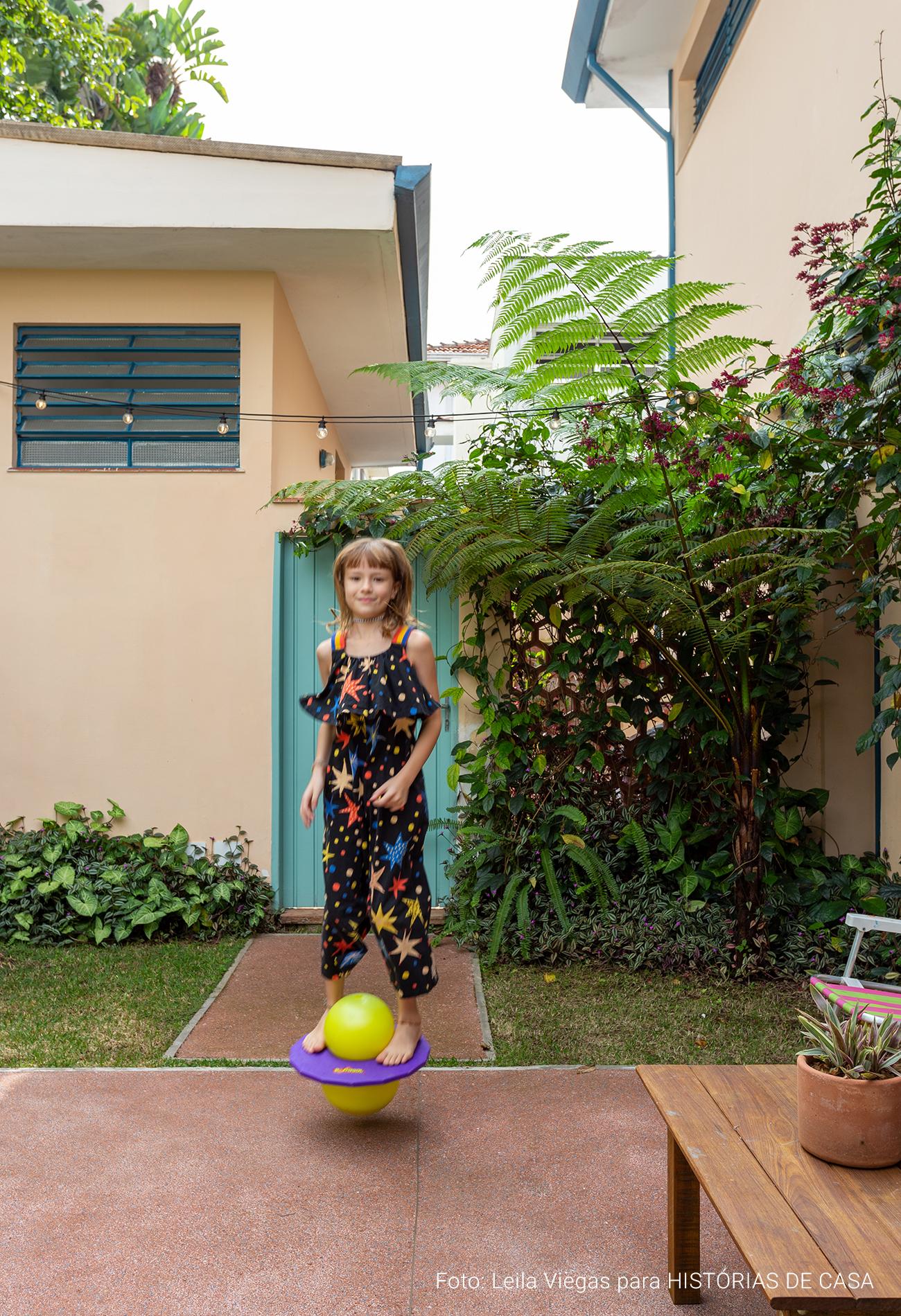 casa de família com quintal e decoração de afetiva