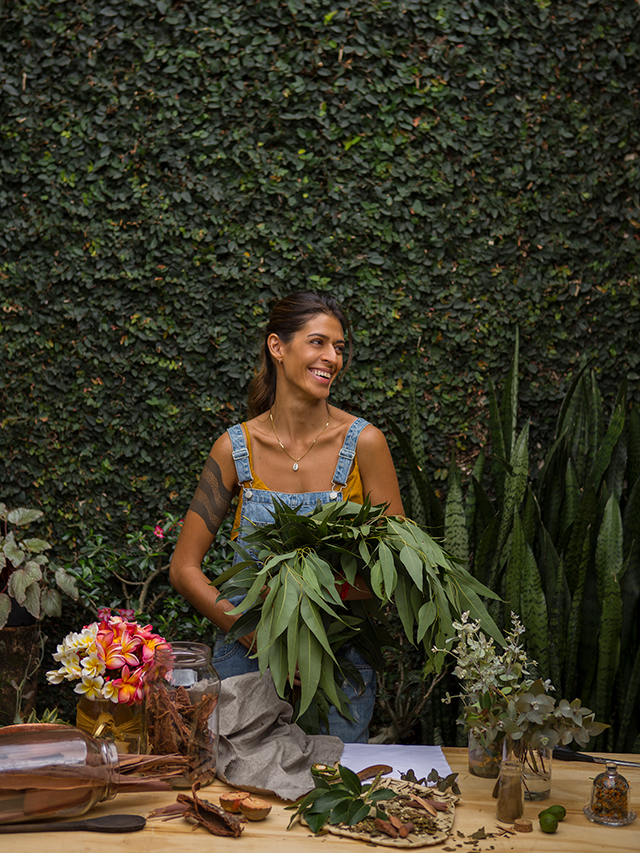 Tingimento natural com plantas